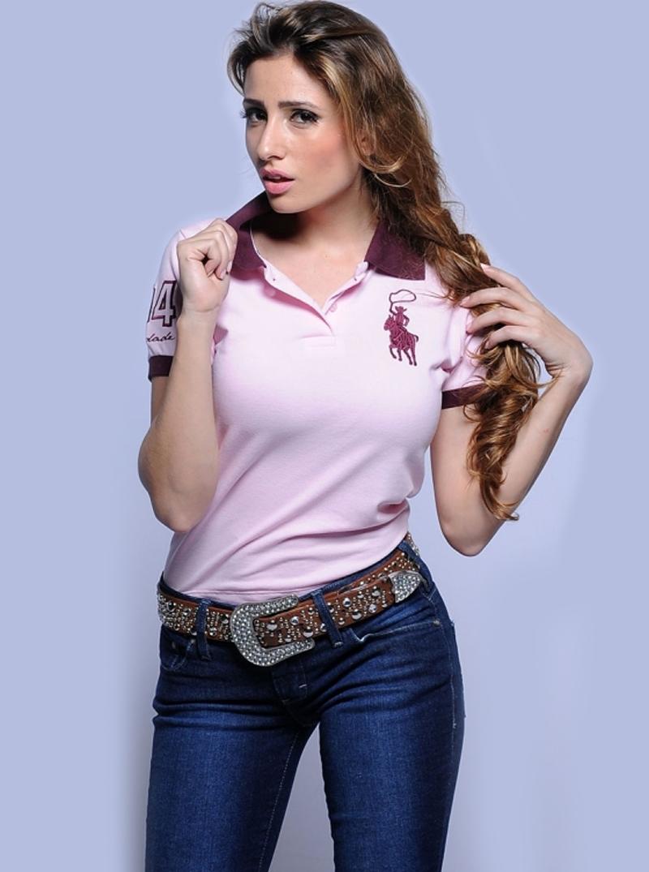 aed6838ecb527 Camisa Polo Feminina Ester   Pólo   Moda Country   ModaCountryMall ...